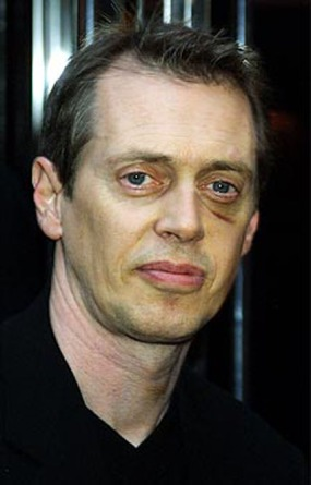 388116 13: Actor Steve Buscemi shows the effects of a stab wound to his head and neck during a recent brawl in a North Carolina bar as he attends a cocktail party honoring Sir Paul McCartney and his girlfriend Heather Mills April 20, 2001 in New York City. McCartney and Mills were honored for their efforts to eradicate the world of deadly land mines. (Photo by George De Sota/Newsmakers)